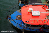 Top View of a Colorful Boat
