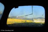 Farmland Abstract through Broken Glass