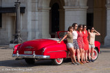 Portrait of 5 Girls and a 1951 Chevy