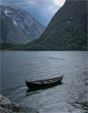 Row boat on the Fjord, Norway
