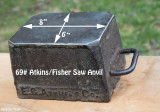 Atkins Fisher Saw Anvil