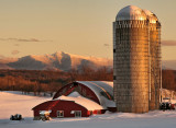 Sun sets on Mansfield and the Collins Farm