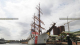September 2016 - the Coast Guard Cutter EAGLE (WIX-327) docked at Harborplace, downtown Baltimore