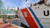 September 2016 - the Coast Guard Cutter EAGLE (WIX-327) docked at Harborplace, Baltimore