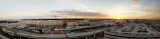 January 2017 - panorama photo of the south side of Ft. Lauderdale/Hollywood International Airport at sunset