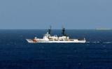2010 - U. S. Coast Guard Cutter MELLON (WHEC-717) going out on patrol from CG Base Sand Island, Honolulu