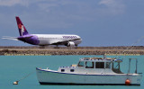 2010 - Hawaiian Airlines B767-332 N594HA taxiing out to the reef runway at Honolulu International Airport