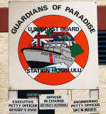 2009 - Coast Guard Station Honolulu Guardians of Paradise sign on Base Honolulu