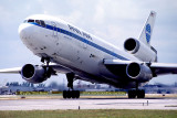 1982 - Pan Am DC10-10 N67NA (ex-National) taking off on runway 12 at MIA aviation airline photo