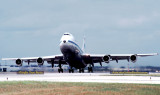 1982 - Pan Am B747-121(A) taking off on runway 9L at Miami International Airport aviation airline photo