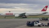 Swiss B-777-300ER just arrived at SFO
