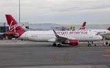 Virgin American A-320 at SFO, April 2017