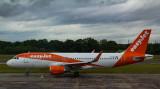 EasyJet A-320 ready to taxi at EDI.