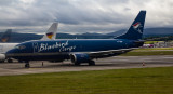BlueBird Cargo 737 resting during the day at EDI