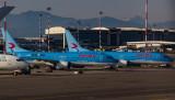 A pair of Neos B-737-800 at MXP