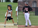 Nolan On Second Base - 11 years Apart