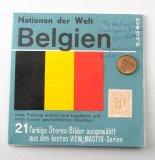 01 Viewmaster Belgien Belgium 3 Reels with Coin & Stamp Sawyer's Pack 3D.jpg