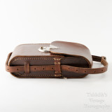 04 Vintage Brown Leather Case for Folding Camera - Hand Sewn Made in England.jpg