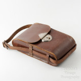 01 Vintage Brown Leather Case for Folding Camera - Hand Sewn Made in England.jpg