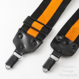 04 Vintage Kaiser Wide Camera Strap Orange and Black Strip with Locking Strap Lugs.jpg
