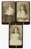 01 2 Pretty Little Girls Sisters Identified 1887 - 3 CDVs Carte de Visite Norwich.jpg