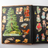02 2 Vintage 1937 Scrap Books Albums with Stickers Animal Dogs Cats Useless Eustace.jpg