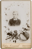 Cabinet Card Photo Memorial Death Young Suited Boy, Deton Cornand Anvers Antwerp