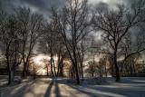 Winter Sunset at Fort Hunter