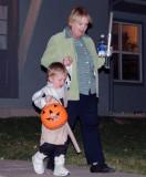 October 2008 - Kyler and Grandma Karen trick or treating on Halloween