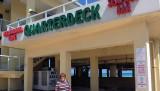 March 2017 - Karen after a not so good lunch at the Quarterdeck Seafood Bar & Neighborhood Grill on Dania Beach Pier