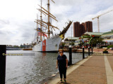 September 2016 - Karen and the U. S. Coast Guard Cutter EAGLE (WIX-327) at Harborplace in Baltimore