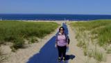 August 2016 - Karen at Cape Cod National Seashore at Provincetown, Cape Cod