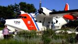 August 2016 - Karen with Coast Guard HU-16 Albatross #CG-7250 at Coast Guard Air Station Cape Cod