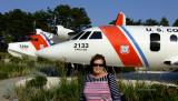 August 2016 - Karen with Coast Guard HU-16 Albatross #CG-7250 and HU-25 Falcon #CG2133 at Coast Guard Air Station Cape Cod