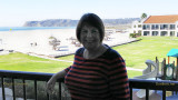 November 2016 - Karen on the balcony of our hotel room at the Navy Lodge on Naval Air Station North Island
