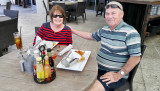 November 2016 - Karen and Don Boyd about to eat some fine seafood at the Sea180 Coastal Tavern in Imperial Beach, California