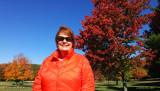 October 2016 - Karen with beautiful changing leaves in Arnold Park, Vestal, New York