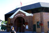 June 2015 - Karen at Doubleday Field, America's first baseball field, in Cooperstown, New York