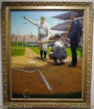 June 2015 - The Mighty Babe (1976) painting by Robert A. Thom at the National Baseball Hall of Fame Museum