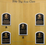 June 2015 - the 1936 first class of inductees into the Baseball Hall of Fame