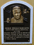 June 2015 - Babe Ruth plaque in the first class of inductees into the Baseball Hall of Fame