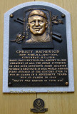 June 2015 - Christy Mathewson plaque in the first class of inductees into the Baseball Hall of Fame