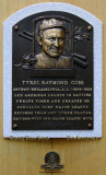 June 2015 - Ty Cobb plaque in the first class of inductees into the Baseball Hall of Fame