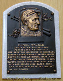 June 2015 - Honus Wagner plaque in the first class of inductees into the Baseball Hall of Fame