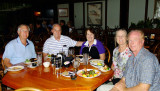 July 2015 - Jim Criswell, Don and Karen Boyd, Wendy Criswell and Jim Hager about to dine at the Colonnade Restaurant in Tampa