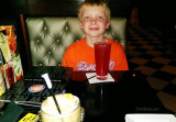 June 2015 - Kyler before dinner and plenty of game playing at Dave & Buster's in Hollywood, Florida
