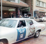 November 1968 - Don driving the Coast Guard Recruiting car in the 1968 Veterans Day Parade in Tampa