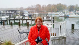November 2015 - Karen after another delicious dinner at the Kentmorr Restaurant & Crab House on Kent Island