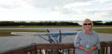 January 2008 - Karen on the observation deck at Everglades Airpark (X01) at Everglades City