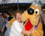 March 2010 - Karen grabbed by Pluto to dance and totally unexpected